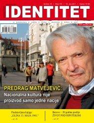 PREDRAG MATVEJEVIĆ: - Identitet
