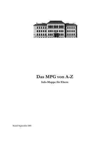 Das MPG von A-Z - Max-Planck-Gymnasium Göttingen