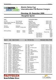 Atomic Swiss Cup Internationales FIS-Rennen Campra Dienstag, 29 ...