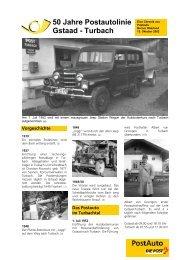 50 Jahre Postautolinie Gstaad - Turbach - Berner Oberland News