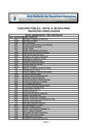 Inscrições homologadas - UFSM