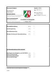 Geschäftsverteilungsplan 1. Januar 2013 - Finanzamt Geldern