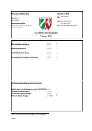 Geschäftsverteilungsplan 7. Januar 2013 - Finanzamt Köln-Ost
