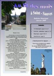 Bulletin Municipal Janvier 2009 - Saint-Sauves d'Auvergne