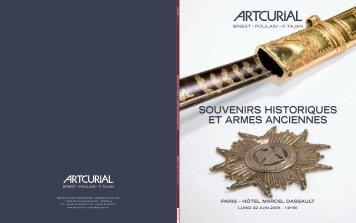 Artcurial | Souvenirs historiques et armes anciennes | 22.06.2009 ...