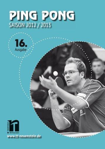 verantwortung - TSV Neuenstein Tischtennisabteilung
