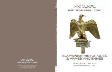 Artcurial | Souvenirs historiques et armes anciennes | 19.03.2008 ...