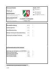 Geschäftsverteilungsplan 1. Januar 2013 - Finanzamt Krefeld
