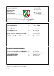 Geschäftsverteilungsplan 1. Januar 2013 - Finanzamt Lippstadt
