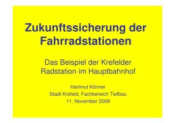 Zukunftssicherung von Radstationen.