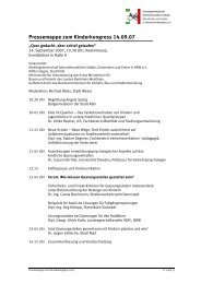 Pressemappe zum Kinderkongress 14.09.07 - Arbeitsgemeinschaft ...