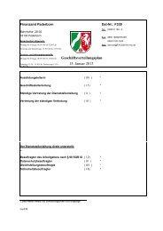 Geschäftsverteilungsplan 1. Januar 2013 - Finanzamt Paderborn