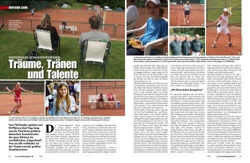 """Das NDJTT 2009 in der Zeitschrift """"Tennis Magazin - Nationales ..."""