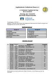 Volksbank Vogtland eG Cup A-Junioren - VFC Plauen e.V