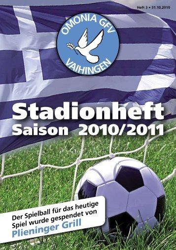 Stadionheft - SGM Omonia-1.FCLL04-Vaihingen