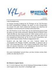 Ausgabe 07 - 2010/2011 | VfL - VfL Pfullingen