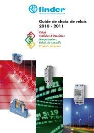 Guide de choix de relais 2010 - 2011 - Finder
