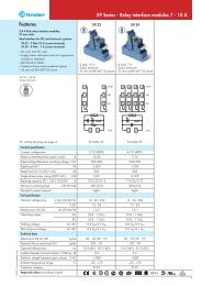 Features 59 Series - Relay interface modules 7 - 10 A - Finder