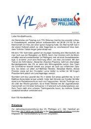 Ausgabe 05 - 2010/2011 | VfL - VfL Pfullingen