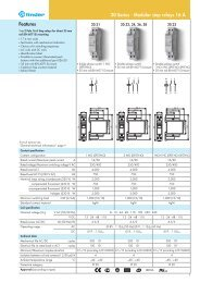 Features 20 Series - Modular step relays 16 A - Finder