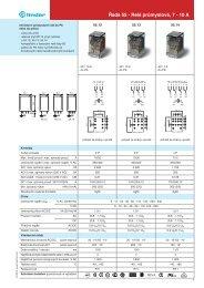 Řada 55 - Relé průmyslové, 7 - 10 A - Finder