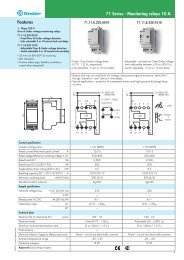 Features 71 Series - Monitoring relays 10 A - Finder