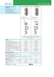 Serie 7T - Thermostate - Finder