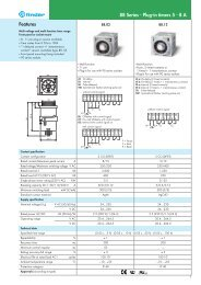 Features 88 Series - Plug-in timers 5 - 8 A - Finder