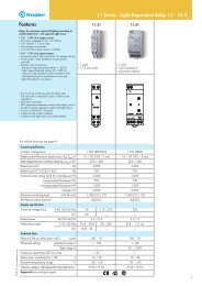 Features 11 Series - Light Dependent Relay 12 - 16 A - Finder
