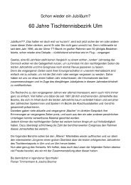 60 Jahre Tischtennisbezirk Ulm - SSV Ulm 1846