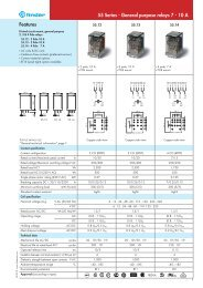 Features 55 Series - General purpose relays 7 - 10 A - Finder