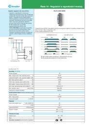 Řada 19 - Regulační a signalizační moduly - Finder