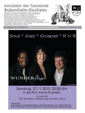 Amtsblatt der Gemeinde Bobenheim-Roxheim