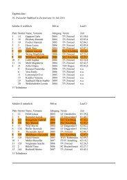 Ergebnisliste 19. Zwieseler Stadtlauf in Zwiesel am 10. Juli 2011 ...