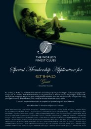 Special Membership Application for - The World's Finest Clubs