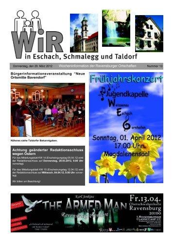 WIR KW 13/2012 - Stadt Ravensburg | Startseite