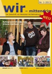 wir mittendrin Ausgabe 1-2013