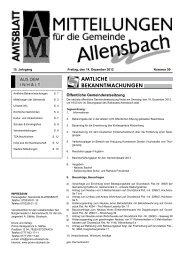 Ausgabe 14. Dezember 2012 - Allensbach