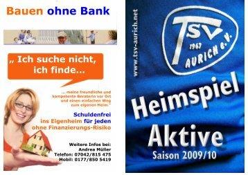 Bauen ohne Bank - TSV Aurich