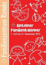 familienkalender 2012-2.halbjahr - Stadt Rinteln