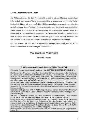 ALLGEMEINE INFORMATIONEN - Volkshochschule Lippe-Ost