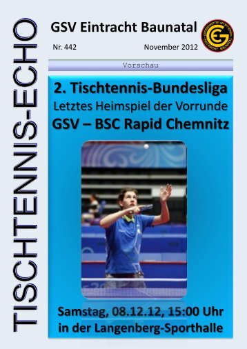 PDF (6,43 mb) - GSV Eintracht Baunatal Tischtennis