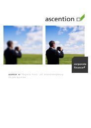ascention corporate finance integrierte Finanzplanung