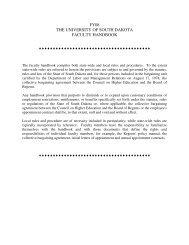 FY08 THE UNIVERSITY OF SOUTH DAKOTA FACULTY HANDBOOK