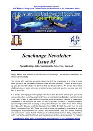 Seachange Newsletter Issue #5 - Southern Freedivers