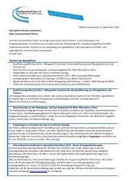 SSB Bonn-Newsletter 3 / September 2012 - Stadtsportbund Bonn eV