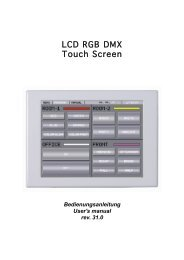 LCD RGB DMX Touch Screen - Rutec