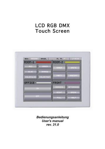 LCD RGB DMX Touch Screen - Rutec
