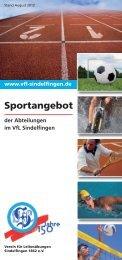Sportangebot 2012 - VfL Sindelfingen 1862 eV
