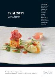 Tarif 2011 - Enodis France